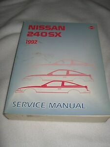 1992 nissan 240sx fastback coupe service manual shop repair 240 sx rh ebay com nissan 240sx owners manual pdf 1995 nissan 240sx service manual
