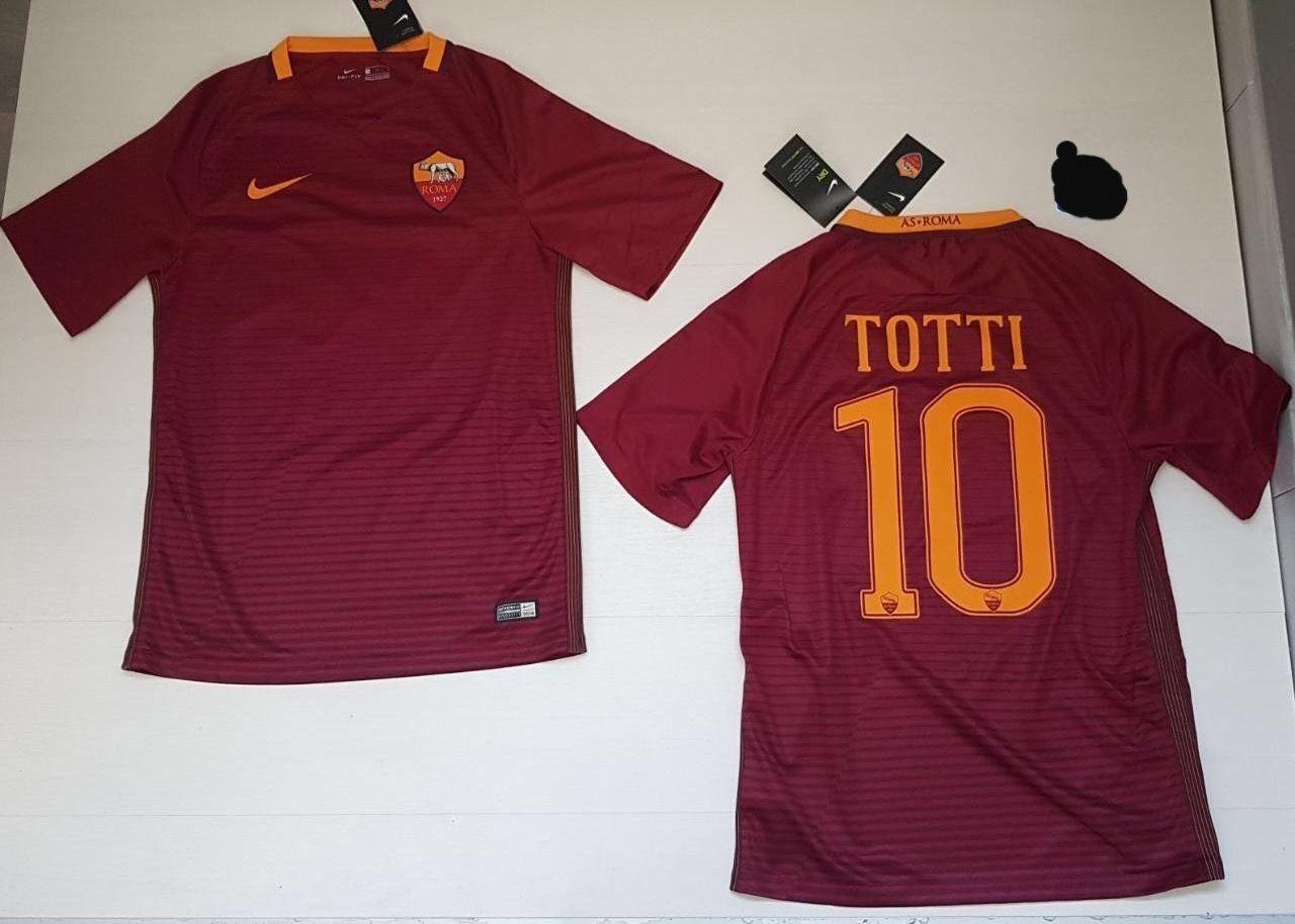 10042 AS ROMA NIKE TOTTI HOME JERSEY T-Shirt trikot Trikot