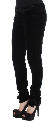 Noir Fit 600 Nouveau Slim Velvet Ermanno Pants S Viscose Scervino wRWI86q