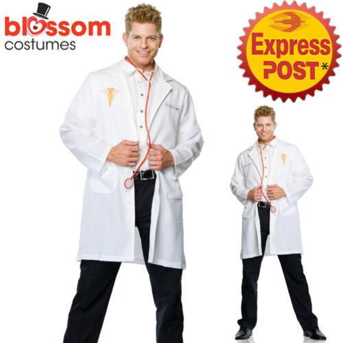 CA609 Leg Avenue Good Doctor Lab Coat Doctors Mens Scientist Fancy Dress Costume