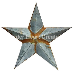 "ONE 1 GALVANIZED RUSTY BARN STAR 18/"" ~WEATHERED ~ DISTRESSED ~ COUNTRY"