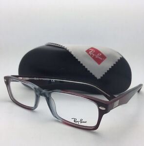 a8de35b69724e RAY-BAN Rx-able Eyeglasses HIGHSTREET RB 5206 5517 54-18 Grey-Red ...