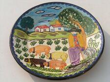 "Vintage Portuguese Portugal Pottery Ceramic Charger Flosa Olaria of Redondo  12"""