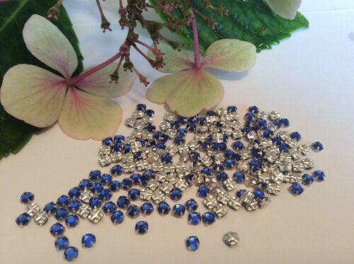 Swarovski rose montees foncé saphir prong set pack de 30 artisanat poste gratuit