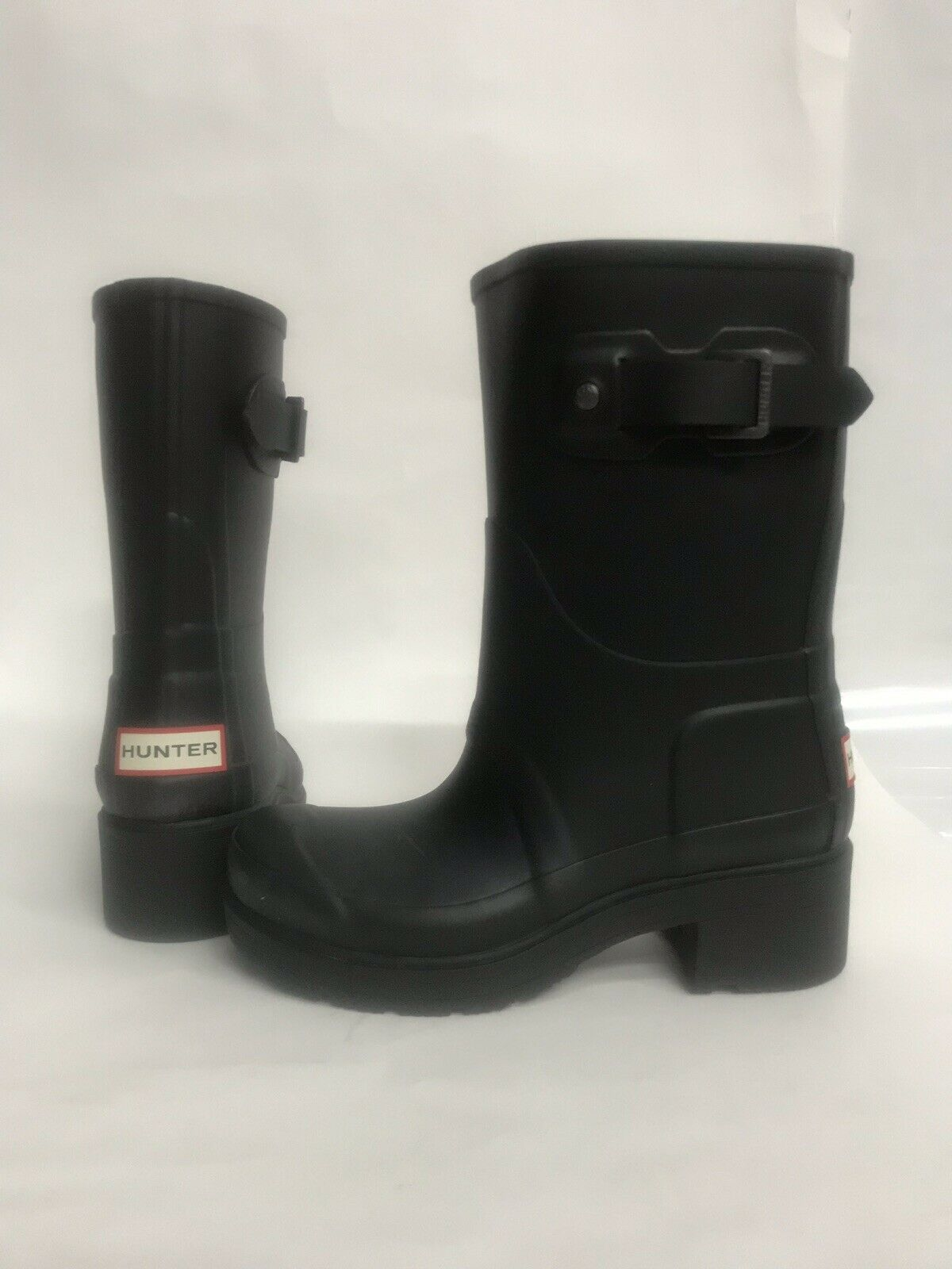 NIB donna Dimensione 8 HUNTER ORG ANKLE RAIN stivali nero