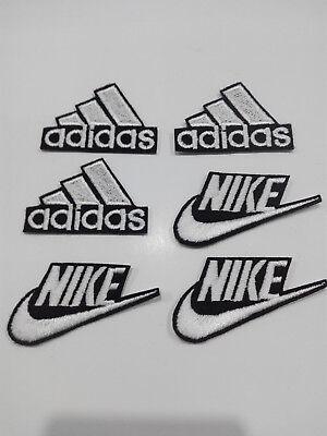 sacerdote Residuos Esperar  Lote 6 parches para pegar 3 Adidas 4,5/3,5cm y 3 Nike 6/3 cm adorno ropa  artesan | eBay
