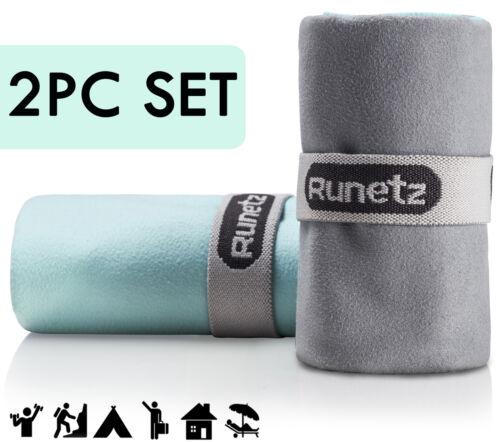 Runetz - 2pc MICROFIBER TOWELS Super Absorbent & Quick Drying