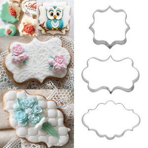 3X-Stainless-Steel-Fancy-Plaque-Frame-Fondant-Cake-Mold-Mould-Cookie-Cutter-UK