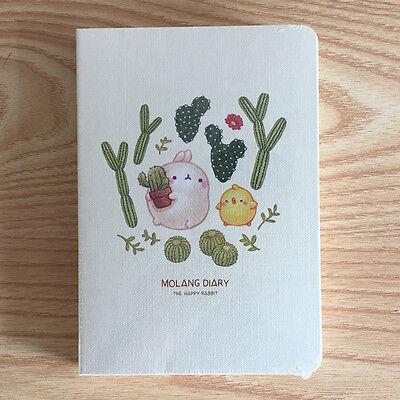 [Green Cactus] Molang Ver.4 Diaries Planner Journal Scheduler Rabbit Kawaii Note
