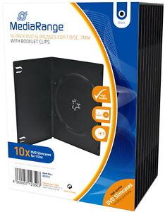 50-Mediarange-DVD-Huellen-Slim-1er-Box-7-mm-fuer-je-1-BD-CD-DVD-schwarz