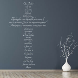 The Lords Prayer Christianity Wall Sticker Ws 42951 Ebay