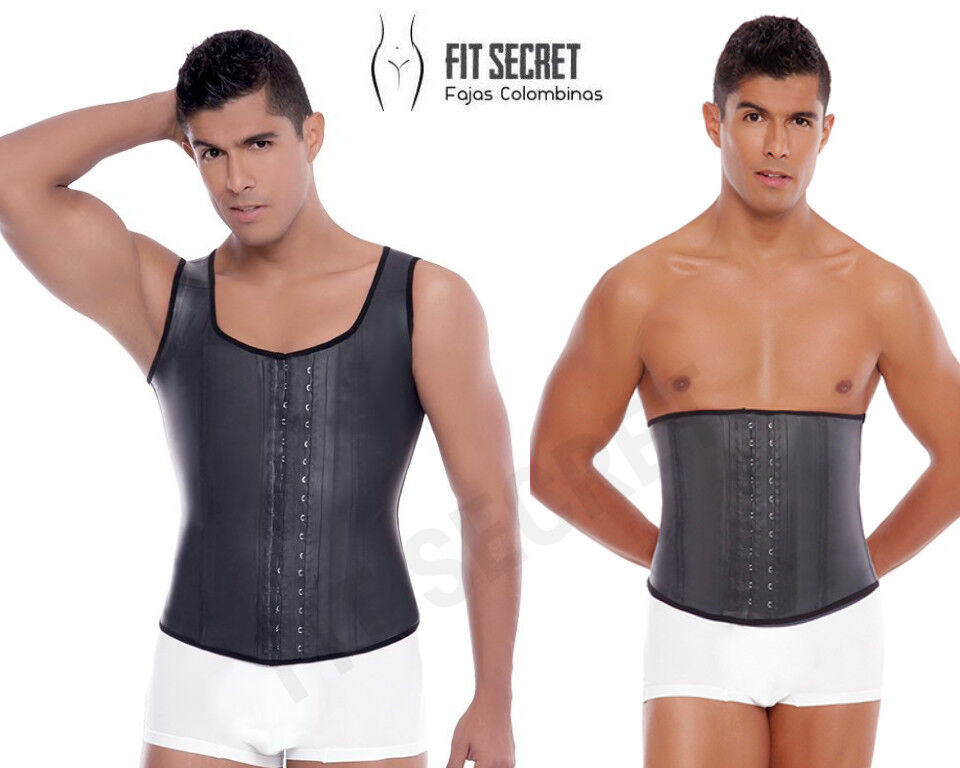 Faja Colombiana Reductora para Hombre Men's Latex Waist Trainer Body Shaper