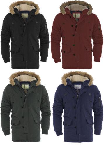 Men/'s Designer Hooded Noel Parka Brave Soul Padded Winter Quilted Coats Jackets