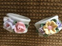 Napkin Rings Set Of 2 Bridal Floral Country Boho Shabby Chic Holders
