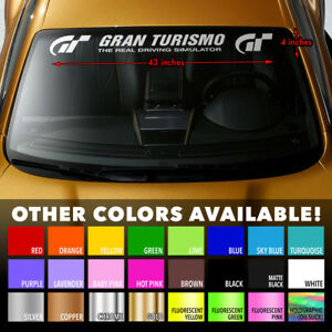 GRAN-TURISMO-SIM-RACING-Premium-Windshield-Banner-Vinyl-Decal-Sticker-43x4-034