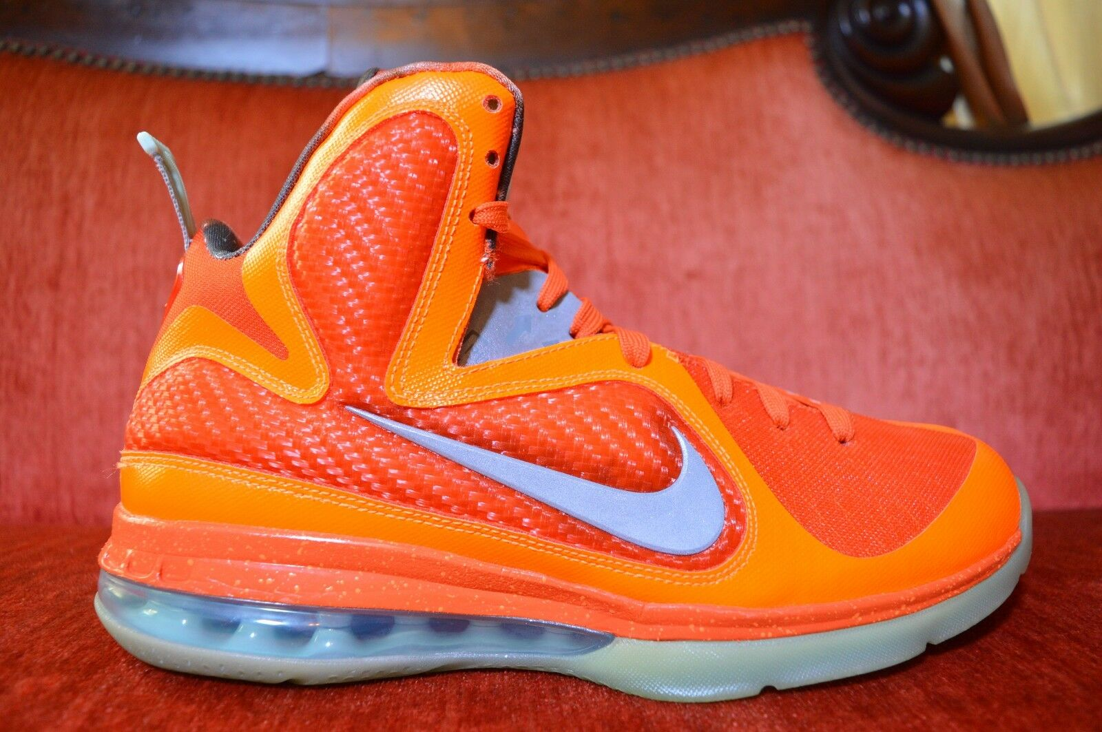 TRIED ON Nike Air Max LEBRON IX 9 AS GALAXY ALL STAR BIG BANG orange 520811-800