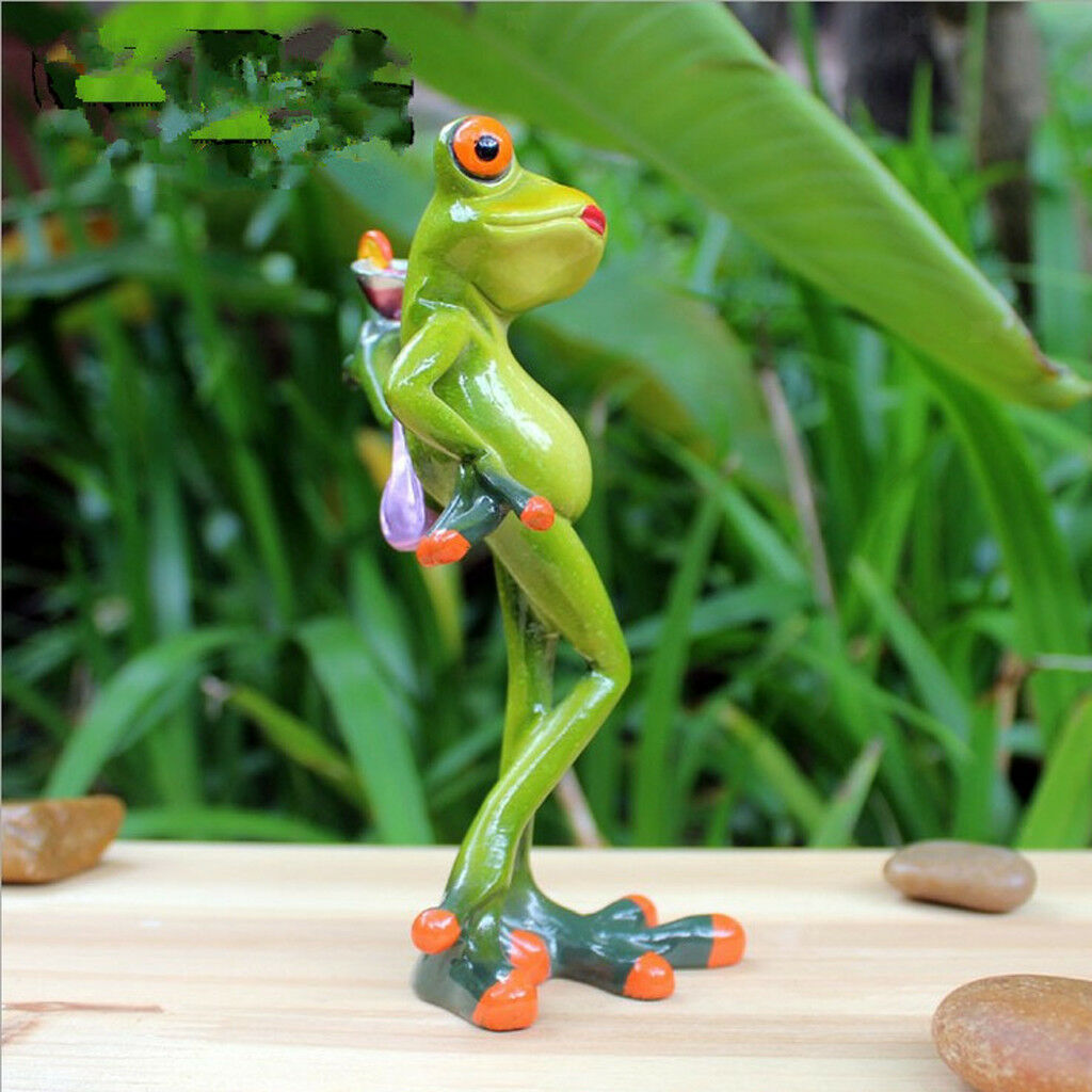 Creative Resin Frog Figurine Colleation Gift Home Decor Elegant Lady