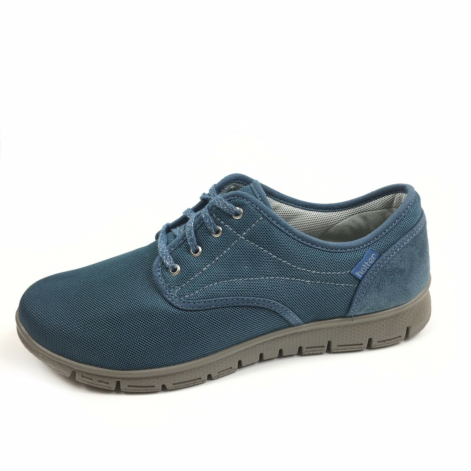 Hotter Women's bluee Mesh Suede Lace Up Comfort Sneakers Size 9.5