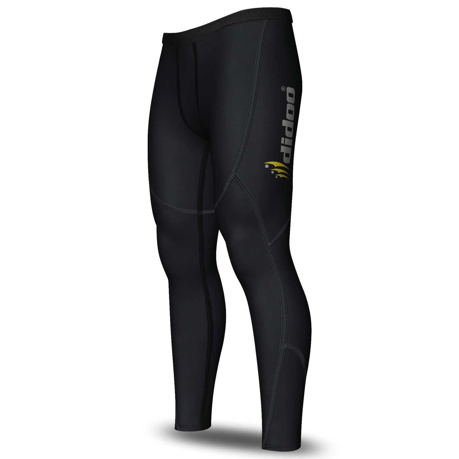 Dettagli su Termico da Uomo Contenitive Livello Base Pantaloni Corsa Aderente Cold Wear