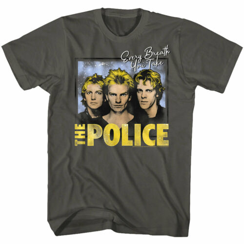 STING /& THE POLICE every breath you take Homme T Shirt Rock Band Musique De Concert
