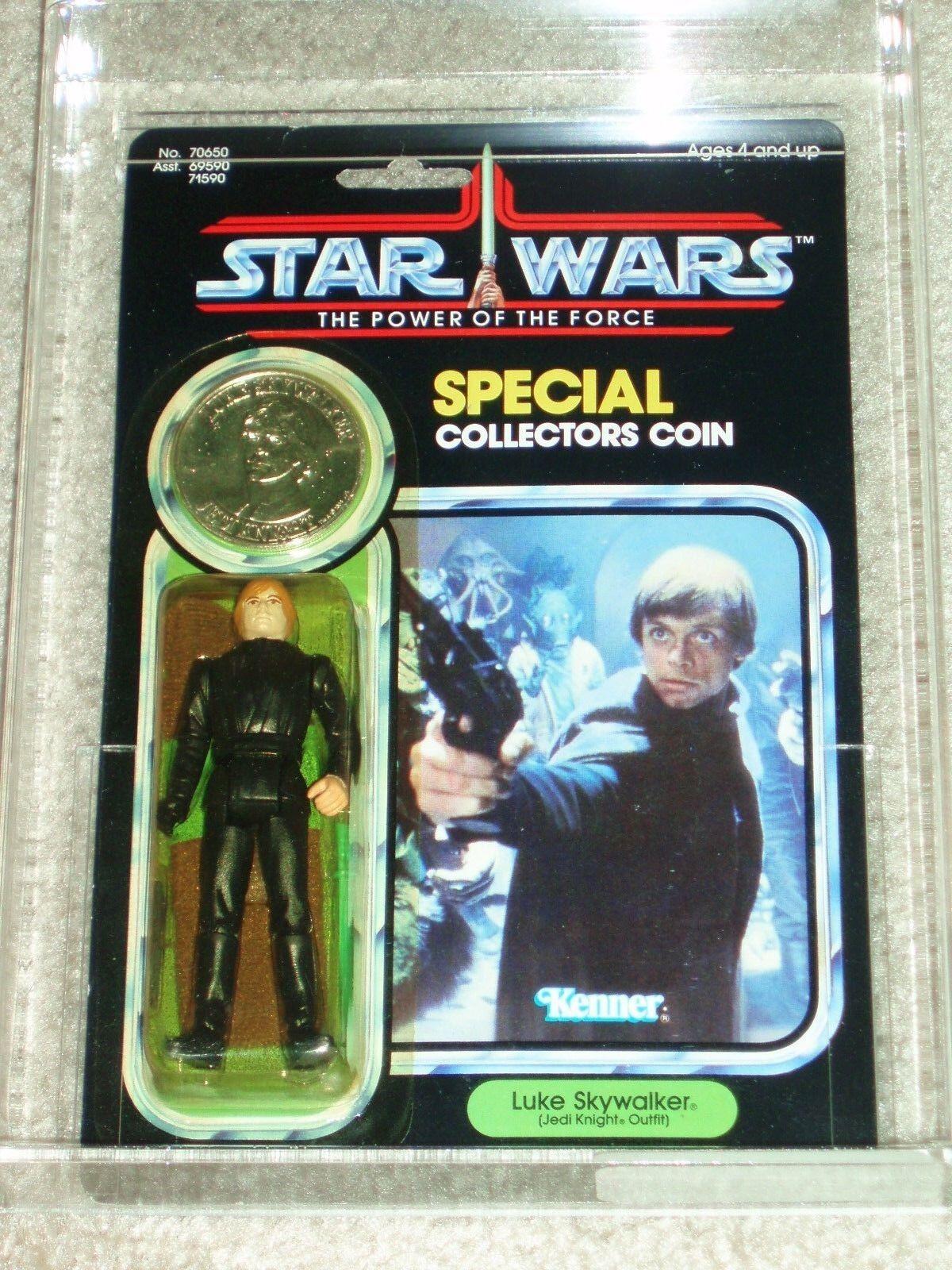 Retro Estrella Wars 1985 AFA 80 85 85 de Luke Skywalker Jedi Knight Potf 92 Moc