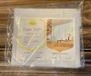 New-Vintage-Mid-Century-Sears-Entree-Tailored-Panel-Curtain-White-40-034-x-63-034