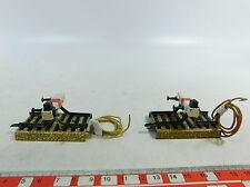 AT726-0,5# 2x Märklin Pista modello H0/AC Fermacarri illuminato 3900