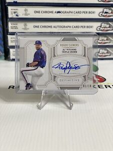 2020 Topps Definitive Collection Baseball Roger Clemens AL Tipple Crown #'d /10