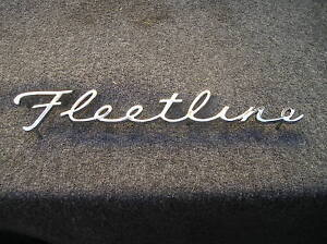 NEW REPLACEMENT CHEVROLET FLEETLINE TRUNK EMBLEM FOR 41 42 46 47 48 CHEVROLET !
