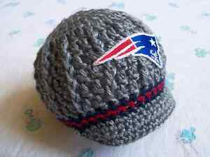 Image is loading Crochet-New-England-Patriots-Baby-Hat 4c6cd32c5a5