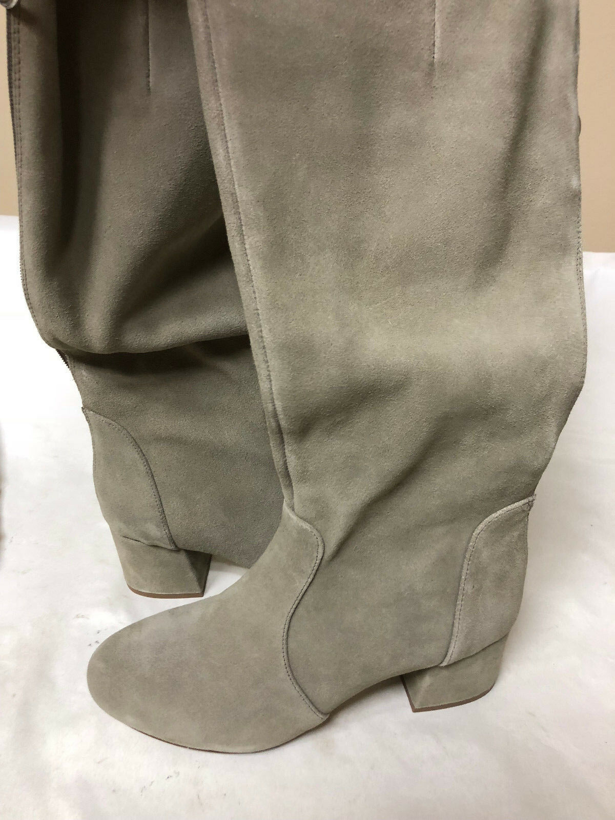 Steve Madden Women's Hanna Harness Boot Taupe Suede 6.5