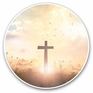 2-x-Vinyl-Stickers-7-5cm-Christian-Cross-Religion-Jesus-Cool-Gift-16488