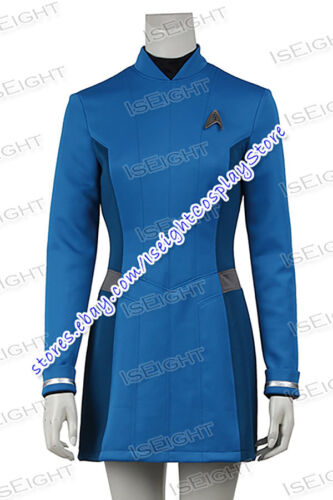 Star Trek Beyond Cosplay Doctor Carol Marcus Costume Blue Dress Uniform Fashion