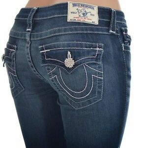 439b8973b Image is loading True-Religion-Jeans-Bootct-with-Flaps-Swarovski-Crystal-