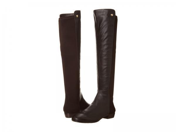 Vince Camuto Karita Leather OTK Fudge Brownie Toto Leather Karita Elastic Riding Boots $239 5.5 5f76b7