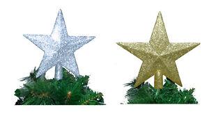 Christbaum Stern PER BRIEF Christbaumspit<wbr/>ze Weihnachtsbaum gold silber glänzend