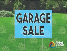 Garage Sale 18x24 Yard Sign Coroplast Printed Double Sided W Free Stand