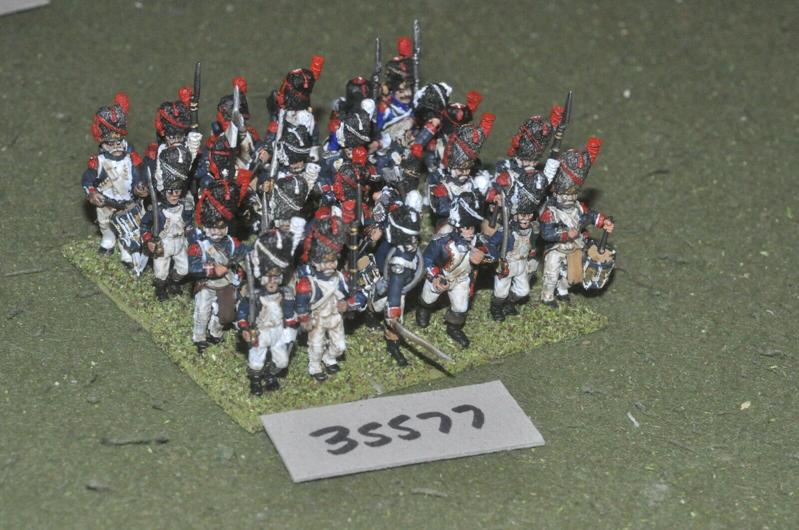 25mm napoleonic   french - regiment 24 figures - inf (35577)