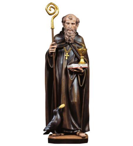 Statue von San Benedikt von Nursia cm 12 in Holz der in Gröden Anstand