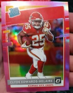 2020 Donruss Optic Rated Rookie CLYDE EDWARDS-HELAIRE HOLO PINK SP 171 Chiefs