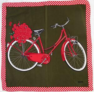 superbe foulard moschino la bicyclette 100 soie tbeg vintage scarf ebay. Black Bedroom Furniture Sets. Home Design Ideas