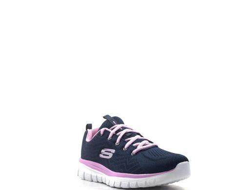 Skechers 12615 nvpk Frau d Sport Stoff Schuhe Blu 13KcTlFJ