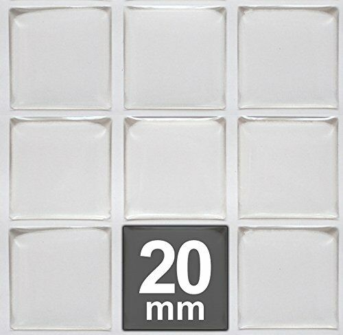 Tiles Domes Dots Seals FREE SHIPPING 20mm Square Clear Epoxy Stickers