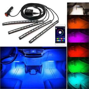 Tiras-del-RGB-LED-Coche-Interior-Neon-luz-ambiente-de-control-de-la-aplicacion-de-telefono-Bluetooth