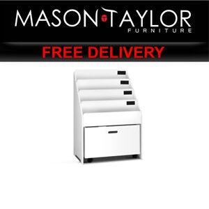 0Mason Taylor Kid's Wooden Bookshelf - White FUNKI-BC1-WH