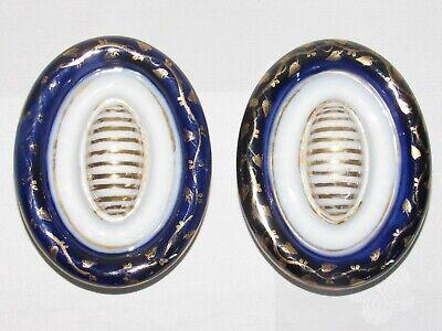 Altri Complementi D'arredo 02f12 Antica Coppia Maniglie Tirante Porta Porcellana Sevres Parigi Limoges Jade White
