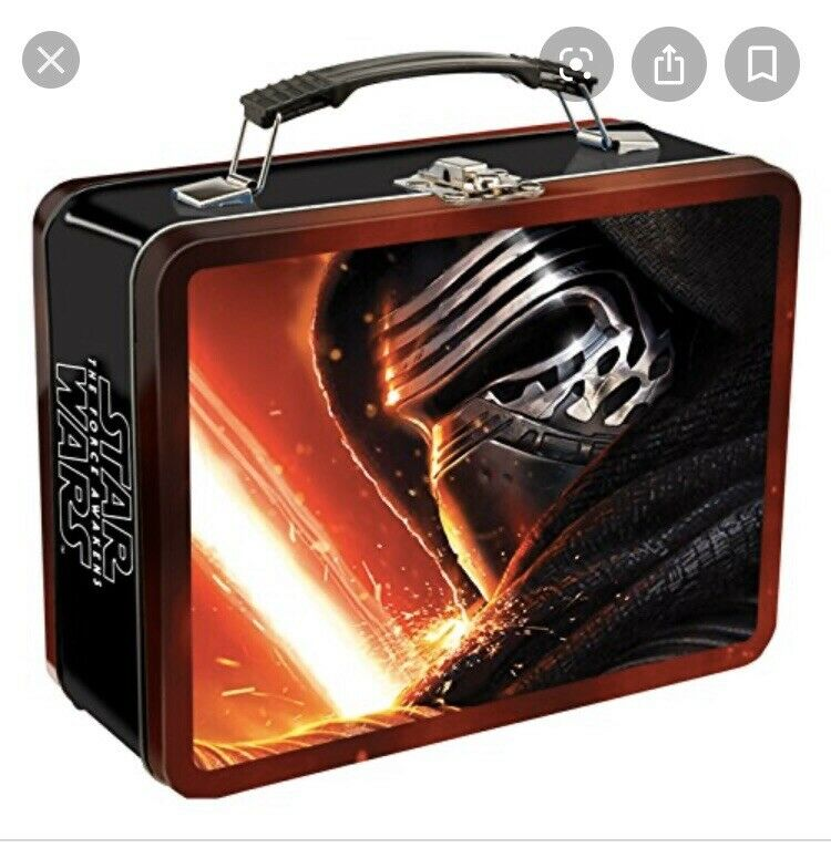 """NEW Star Wars Episode VII Large 9""""x3.5""""x7.5"""" Lunch Box!"""