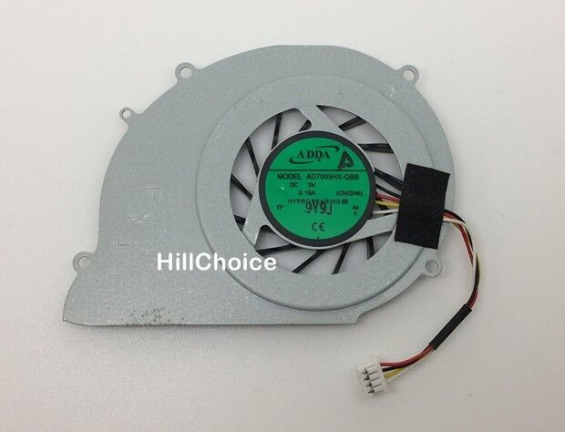 CPU Fan For Toshiba Satellite T130 T131 T132 T133 T135 Laptop 4-PIN AD7005HX-QBB