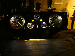 Jaguar xk 120 xk 140 xk 150 Instrument Dash led set for Positive Ground