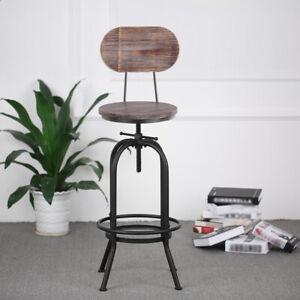 Tabouret-de-bar-retro-Vintage-Industriel-hauteur-reglable-Chaise-en-bois-FR-K2K1